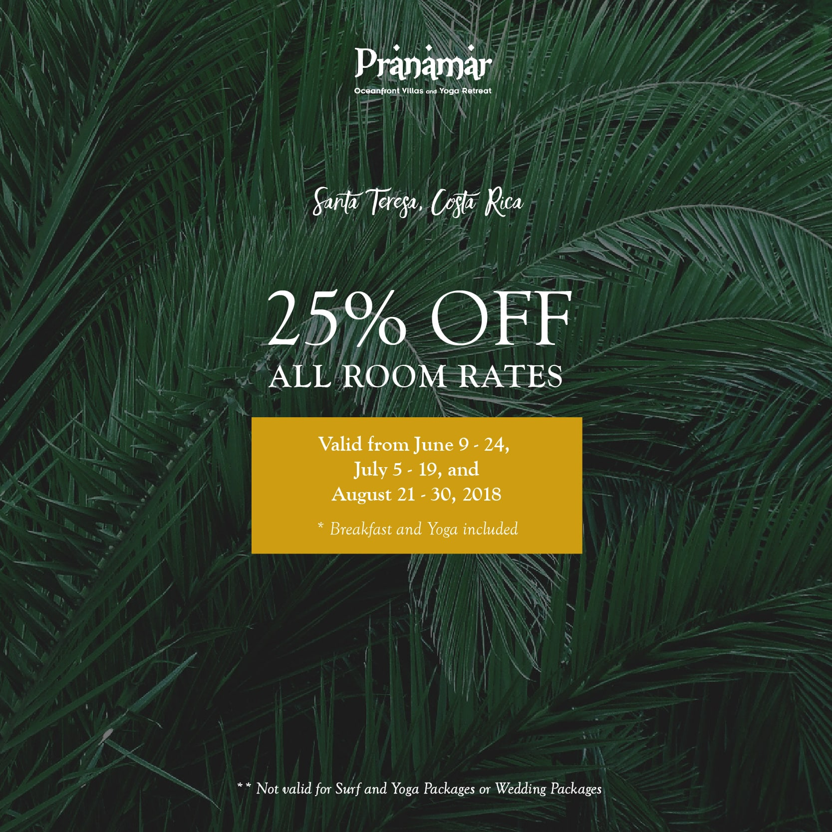 25% OFF – All Room Rates
